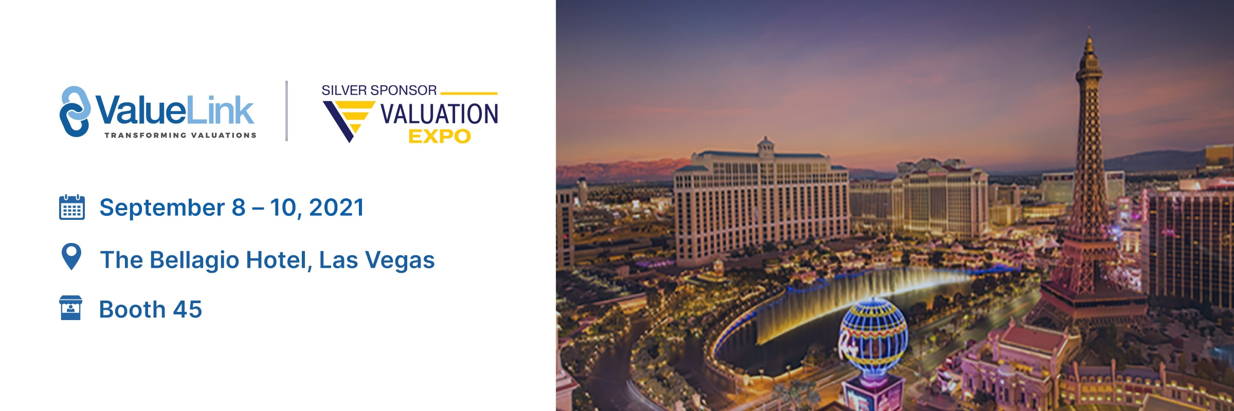 Valuation Expo Sept. 8th – 10th, 2021.