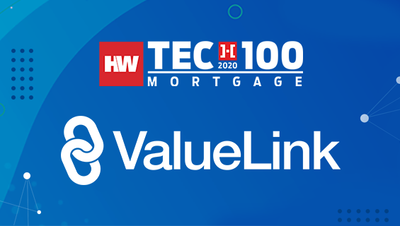 Valuelink won 2020 HWTech100 Mortgage